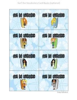 FREE! Surf Theme Vocabulary Center