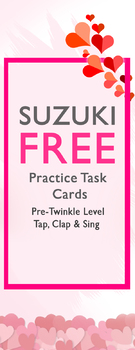 FREE Suzuki Pre-Twinkle Practice Task Cards