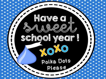 FREE Sweet School Year Gift Tags Editable