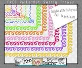 FREE Swirly Polka-Dot Borders