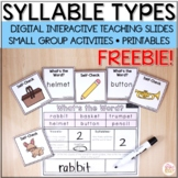 FREE Syllable Types and Syllable Division - Digital & Printable
