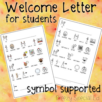 Free Symbol Supported Welcome Back To School Letter For Students