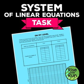 FREE System of Equations Task