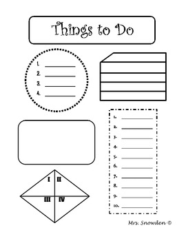 FREE To Do List Templates for the New School Year