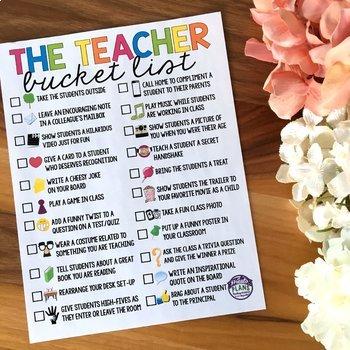 FREE TEACHER BUCKET LIST