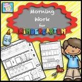 Kindergarten Morning Work Math | Letter Recognition Worksheets for Kindergarten