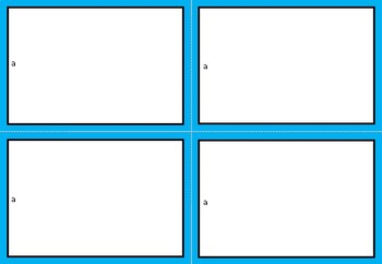 FREE TEMPLATES FOR TASKCARDS
