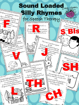 FREE TH Sounded Loaded Book for Speech Therapy Silly Poem on each page