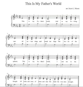 FREE THANKSGIVING HYMN Easy Tone Chimes & Bells THIS IS MY FATHER'S WORLD