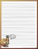 PRINTABLE THANKSGIVING STATIONERY (PRIMARY LINES)