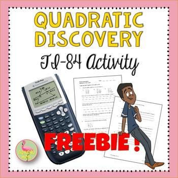 TI-84 Quadratic Discovery Activity FREEBIE