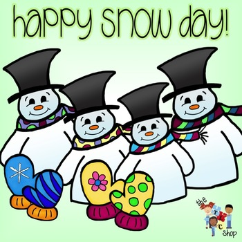 FREE! Happy Snow Day Clipart Set