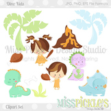(FREE TODAY) Dino Kids- Commercial Use Clipart Set
