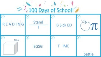 100 Days of School - Math Writing and Brain Teasers