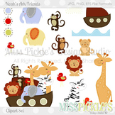 (FREE TODAY) Noah's Ark Friends- Commercial Use Clipart Set