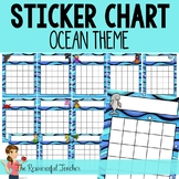 Sticker Chart - Reward Incentive Chart - Ocean Theme