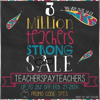 FREE TPT 3 Million Strong Sale Banner