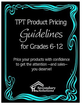 Pricing Guide for Middle and High School Sellers {FREE}