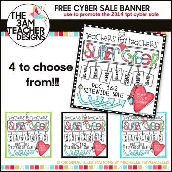FREE TPT Super Cyber Sale Banner 2014