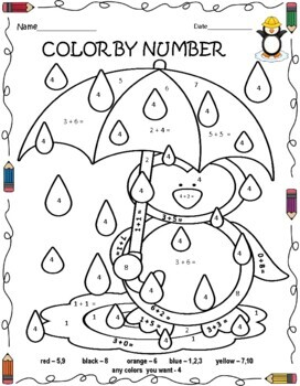 TRACE AND COLOR BY NUMBER 1 - 10 FOR PreK -KINDERGARTEN ...