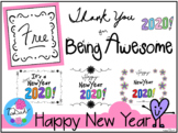 Happy New Year 2020 Poster Clipart -TaDah