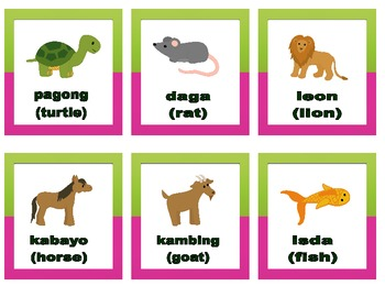 FREE Tagalog Words of Animals