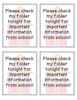 FREE Take-Home Reminder Notes