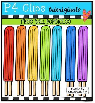 FREE Tall Popsicles {P4 Clips Trioriginals Digital Clip Art}