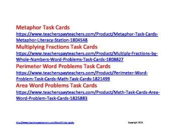 FREE Task Card Record Sheet