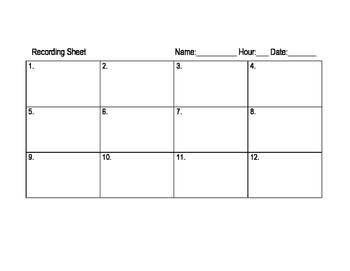 FREE Task Card Recording Sheets ~SER o ESTAR - DOCTOR or PLACE worksheet