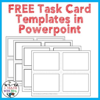 FREE Task Card Templates in Powerpoint
