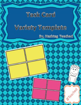 FREE Task Card Variety Template