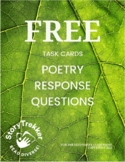 FREE Task Cards - Poetry Response Questions (Distance Learning)