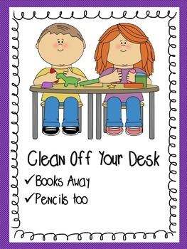 FREE Task Reminder Posters Organize Your Room! Bright and Colourful