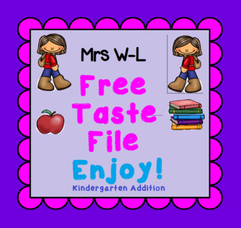FREE Taste Kindergarten Addition Smart Notebook and Unit of Work Bundle