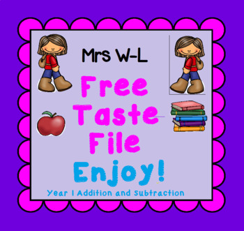FREE Taste Year 1 Addition and Subtraction Smart Notebook and Unit of Work