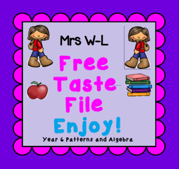 FREE Taste Year 6 Patterns and Algebra Smart Notebook and Unit of Work Bundle