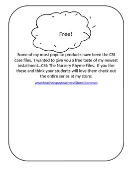 FREE Taste of CSI Case Files