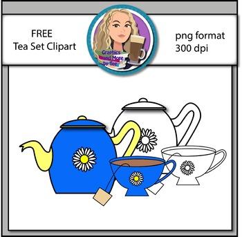 FREE Tea Time Clipart
