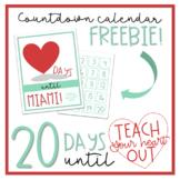 FREE Teach Your Heart Out MIAMI countdown calendar