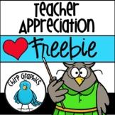 FREE Teacher Appreciation Clip Art Set  - Chirp Graphics