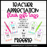 FREE Flair Gift Tags Teacher Appreciation | Co-Worker Gift Tags Back to School