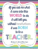 FREE Teacher Appreciation Poster Print