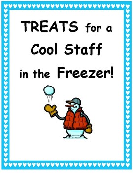 FREE Teacher Appreciation Poster Treats in the Freezer