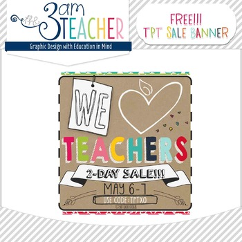 FREE Teacher Appreciation Sale Banner