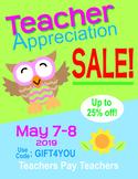 FREE Teacher Appreciation Sale Banners Freebie Freebee