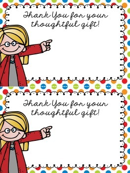 FREE Teacher Appreciation Thank You Cards from iTeach Third