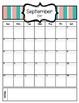 FREE Teacher Binder Calendars