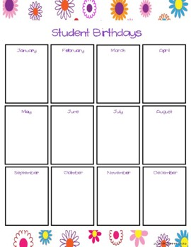 FREE Teacher Organizational Binder 2017-2018 Flower Design