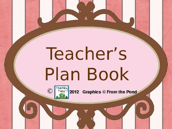 {FREE} Teacher Plan Book